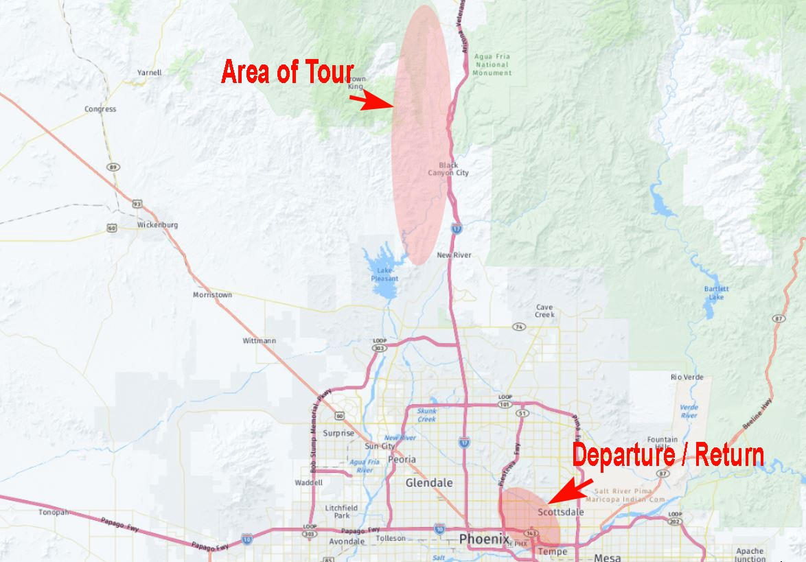 Black Canyon Location Map