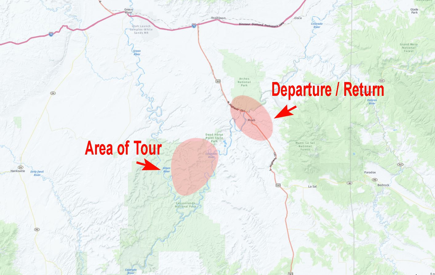 White Rim Location Map